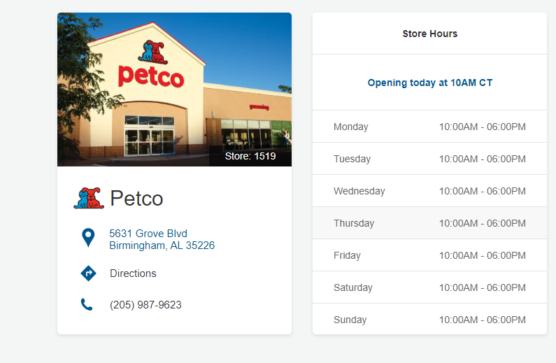 Petco Locations in Birmingham Alabama