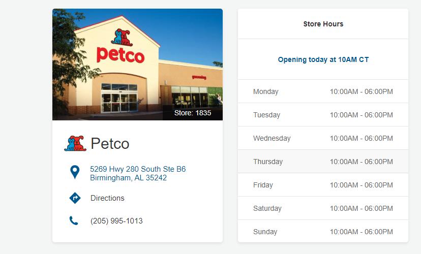 Petco Locations in Birmingham Alabama